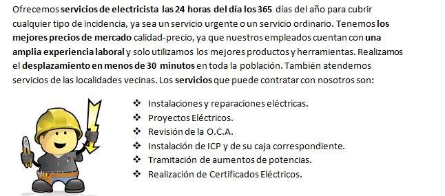 Electricistas Perales de Tajuña trabajos profesionales